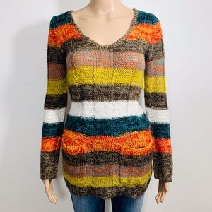 Rue 21 Acrylic Sweater S Stripes Colorblock